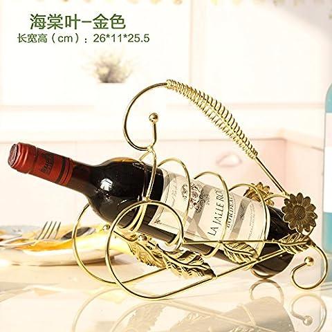 Finitura in acciaio inossidabile vino Rack supporto a pavimento contiene?bronzo europeo ferro rack vino,foglie d'oro di Begonia