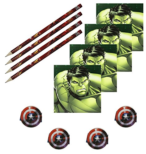 Marvel Avengers Assemble Stationery Packs Party Bag Fillers, 4 Sets