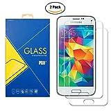 [2 Pack] Panzerglas Schutzfolie Samsung Galaxy S5 Mini G800 / G800F / G800H / 800 - Gehärtetem Glas Schutzfolie Displayschutzfolie für Samsung Galaxy S5 Mini G800 / G800F / G800H / 800