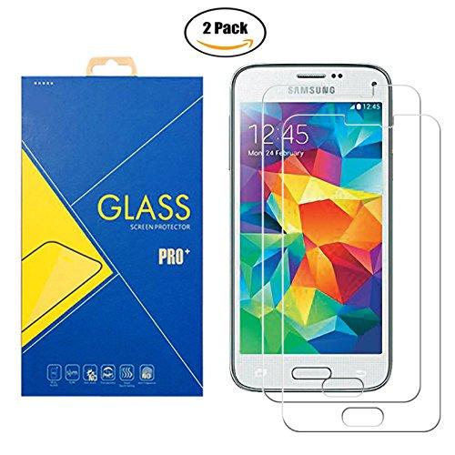 [2 Pack] Pellicola Vetro Temperato Samsung Galaxy S5 / S5 Neo GT-i9600 / SM-G900F / 9600 / 900 / G900 - Schermo Antiurto Antigraffio