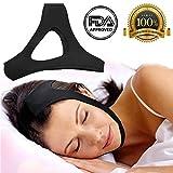 Anti Ronflement Sangle de menton - Le Premium Coucher Ronflements Solution - Stop ronflement appareil - Un sommeil sûr simple efficace Aid - Ceinture réglable pour hommes, femmes, enfants