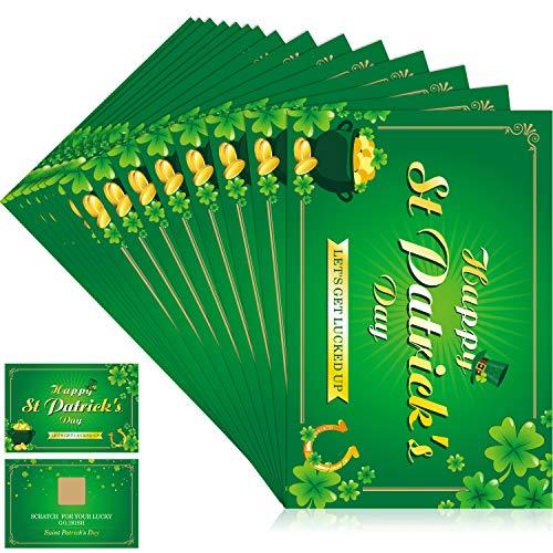 cks Tag Reichtum Karten, Jahr des Glücks Shamrock Party Kratzen aus Reichtum Spiele, Laminierte Reichtum Teller Karten (Stil 1) ()