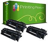 Printing Pleasure 3 Toner Compatible pour HP Laserjet P2030 P2035 P2035N P2055D P2055DN P2055 P2056 P2057 P2055X | CE505A 05A Noir [Black]