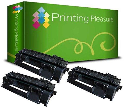 3 Toner Compatibili per HP Laserjet P2030 / P2035 / P2035N / P2055D / P2055DN / P2055 / P2056 / P2057 / P2055X / CE505A / 05A Nuovo non Rigenerato, Colore: Nero