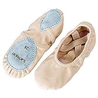 s.lemon All-Round Elastic Canvas Ballet Dance Shoes Stretch Ballet Slippers for Girls Kids Women Pink