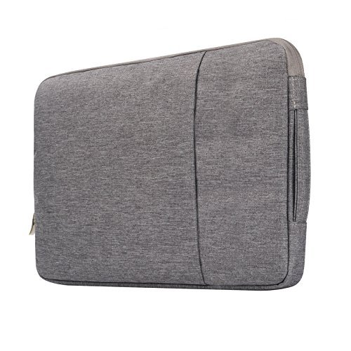 "Price comparison product image Macbook Air 13"" Travel Bag, Macbook Pro 13"" 2016 Sleeve Case, Anrain Laptop Protective Bag Pouch for MacBook Pro 13.3"" Retina Display Macbook Air 11"" 13"" 12.9"" iPad Pro Acer Dell HP Chromebook, Gray"