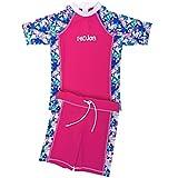 FEDJOA Kinder UV Schutz Schwimmanzug - Mädchen - Zuma Beach - Französische Design