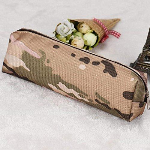 TAOtTAO Jungen Mädchen Camouflage Schulbedarf Tasche Geldbörse Federtasche Mini Tasche Trendy (B)