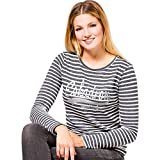 Eskadron Dana Womens Long Sleeve T-Shirt Small Navy Stripe