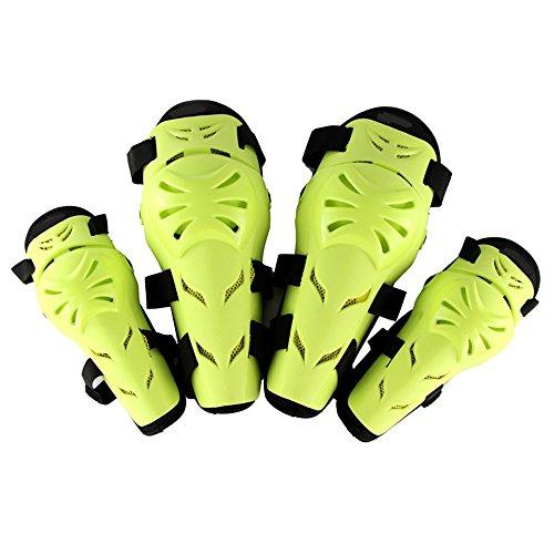 LBYMYB Knieschützer-Leggings Motocross-Rennbekleidung für Outdoor-Sportarten mit bruchsicherer Schutzausrüstung Knieschützer (Farbe : Green)