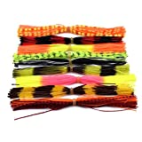 12 Bündel Verschiedene Farbe Silicone Skirts für Spinnerbaits Buzzbaits Fliegenbinden Material Linie Fuß (12 Bundles Mischfarben)