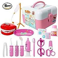 ThinkMax 15 Piezas de Juego de Médico Conjunto, Kit de Dentista de plástico, Juego