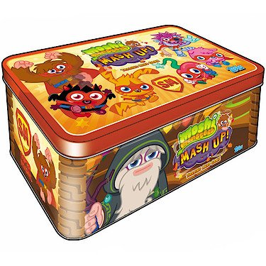 Moshi Monsters - Mash Up! - Boite Super Moshi - 20 Cartes Aléatoires + 2 Badges (Import Royaume Uni)