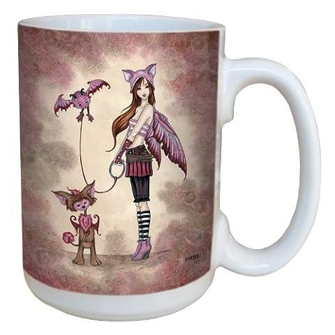 Tree-Free Greetings lm43567 15 oz Whimsical Phoebe's Beasties Fairy Ceramic Mug with Full Sized