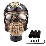 SMKJ Auto Schaltknauf Cool Resin Soldat Skull Shape totenkopf Schaltknüppel Shifter Knob Universal für most Manuelles