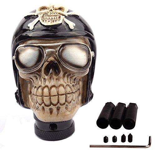 SMKJ Auto Schaltknauf Cool Resin Soldat Skull Shape totenkopf Schaltknüppel Shifter Knob Universal für most Manuelles -