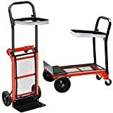 Yaheetech Multi Purpose Hand Truck Folding Sack Trolley Platform Garden Barrow Cart,80kg Capacity