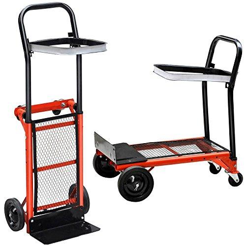 Yaheetech Multi Purpose Hand Truck Folding Sack Trolley Platform Garden Barrow Cart,80kg Capacity(Size B)