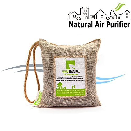 Breathefresh Vayu Natural Air Purifying Bag, 100!% Activated Charcoal. Odour, Allergens And Pollutants Remover For Cars, Washrooms, Closets - 250 Grams