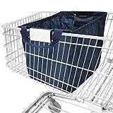achilles Easy-Shopper, sac shopping pliable, sac shopping adapté à tous les paniers, sac en bleu marine, 54x35x39 cm