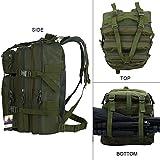 HUKOER Multifunktionale Rucksack-30L Wasserdichte Outdoor Sports Trekkingrucksäcke-perfekte Wanderrucksäcke Sportrucksack Reisetaschen für Sport Liebhaber (Armeegrün) - 3