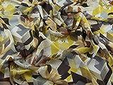 Geometrische Floral Print Chiffon Kleid Stoff