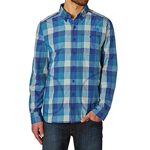 Blau Plaid L/s Shirt (North Face Herren Hemd M Empennage L/S Shirt Bomber Blue Plaid, S)