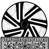 (Größe und Farbe wählbar) Radzierblenden 16 Zoll – CYRKON (Weiß-Schwarz) passend für fast alle Fahrzeugtypen (universell)!