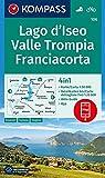 Lago d'Iseo, Valle Trompia, Franciacorta: 4in1 Wanderkarte 1:50000 mit Aktiv Guide und Detailkarten inklusive Karte zur offline Verwendung in der ... (KOMPASS-Wanderkarten, Band 106)