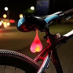 KOBWA Trasera para Bicicleta, Bike Light Testículo Gadget Impermeable Divertido LED Huevos Luz Luz Trasera para Cualquier Bicicleta Bike Beach Cruiser Bike Scooter MTB, Rojo