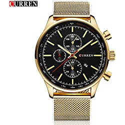 Hot Sale CURREN Luxury Fashion Men's Wrist Watch New Product for 2017 Business Casual Watch 8227G