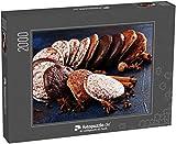 fotopuzzle.de Puzzle 2000 Teile Typische deutsche Lebkuchen wie Lebkuchen und Aachener Printen. Weihnachtsgebäck mit Gewürzen (1000, 200 oder 2000 Teile)