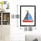 Hongrun 3D-Acryl Wandhalterung An Der Wand Im Wohnzimmer Esszimmer Schlafzimmer Cartoon Kinder Kreativ Dekorative Rahmen, B 55*42 Cm