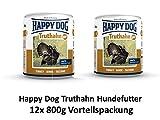 Happy Dog Truthahn Pur | 12x 800g Hundefutter nass