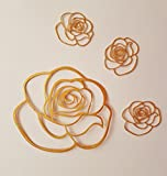 Edible Cake Lace, Fortesque Cakes mit Rose, mit Spitze Dekoration, Sugarcraft, fertige in der Cupcake big rose 9.5cm, small rose 3.5cm gold