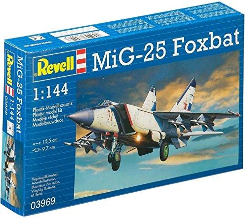 Revell - 03969 - Maquette D'aviation - Mig - 25 Foxbat - 31 Pièces - Echelle 1/144