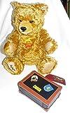 Steiff Teddy mit Passport + Koffer Brummstimme USA Limitiert auf 3.500 Stck. 00964 wie NEU 665318