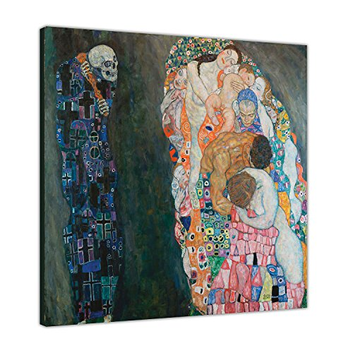 Berühmte Gustav Klimt Malerei Tod und Leben auf Rahmen Leinwand Prints Art Wand Bilder, Canvas Holz, 05-24
