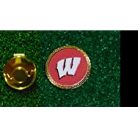 Gatormade Golf Ball Marker + cappello clip Wisconsin Badgers