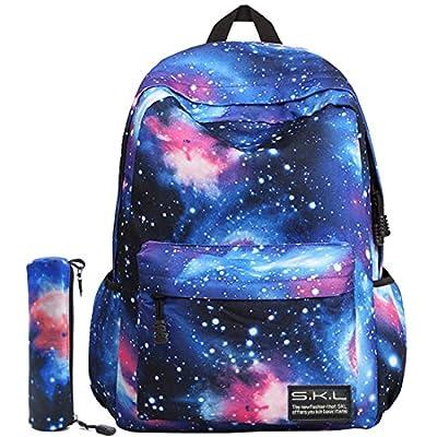 School Backpack, SKL Galaxy Bag Unisex School Bag Collection Canvas Backpack