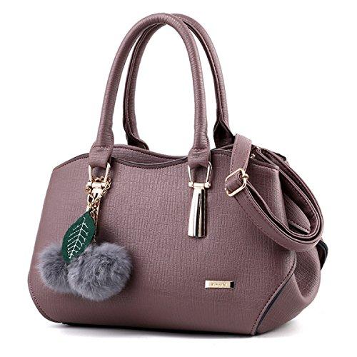 FRIZIONE Semplice In Pelle Goffrata Messenger Bag PU rubberpurple