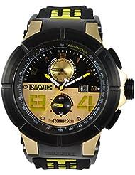 Techno deportiva para hombre reloj Chrono - oro/negro