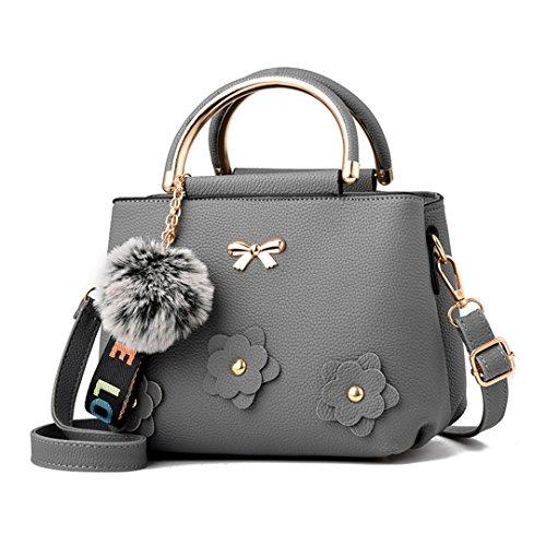 Frauen Handtasche Ledertasche Großhandel Handtaschen Nachricht Tasche Gray 23x17x12cm