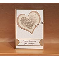 XL Karte DIN A5 Hochzeit Handarbeit