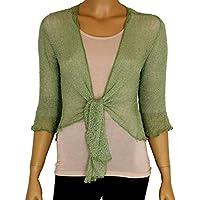 Taboo fashion clothing - Coprispalle da donna, tinta unita, in maglia traforata, bolero, ampia vestibilità, tutte le misure, vari colori disponibili