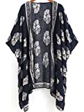 Abrigo Mujer Primavera Verano Otoño, Top de Manga Larga Mujeres Cardigan Kimono de Patrón de Impresión Abrigo de Mujer Chaqueta Mujer de Moda Outwear Túnica Ligera Sudadera Mujer Blusa de Mujer