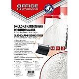 Office Products 20232525–14carátulas para encuadernar de cartón, A4, 250g/m², estructura de piel, 100unidades), color blanco