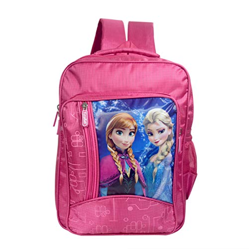 Tinytot Frozen Polyester Pink School Bag for Girls