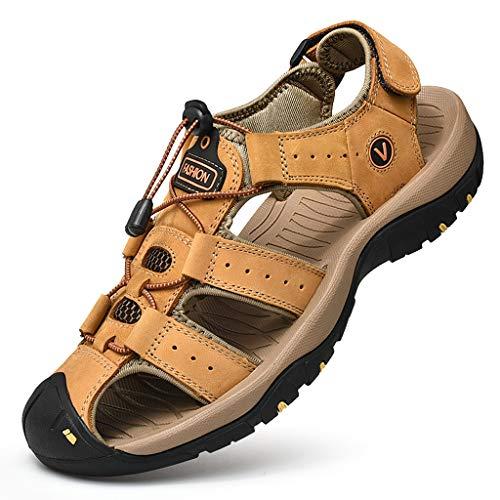 DAY.LIN schuhe herren Herren Outdoor Sandalen Größe Sport Wandern Sandalen Schnell Trocken Toecap Sommer Schuhe Orange/Schwarz -