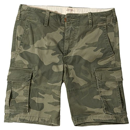 Hollister - Homme Classic Fit Cargo Shorts Bermuda Short - Taille Small - Camo (626523065)